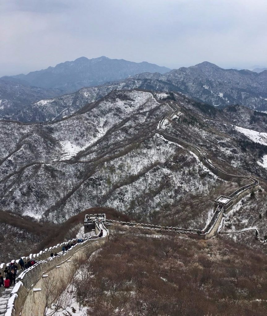 grande muraille chine mutianyu neige