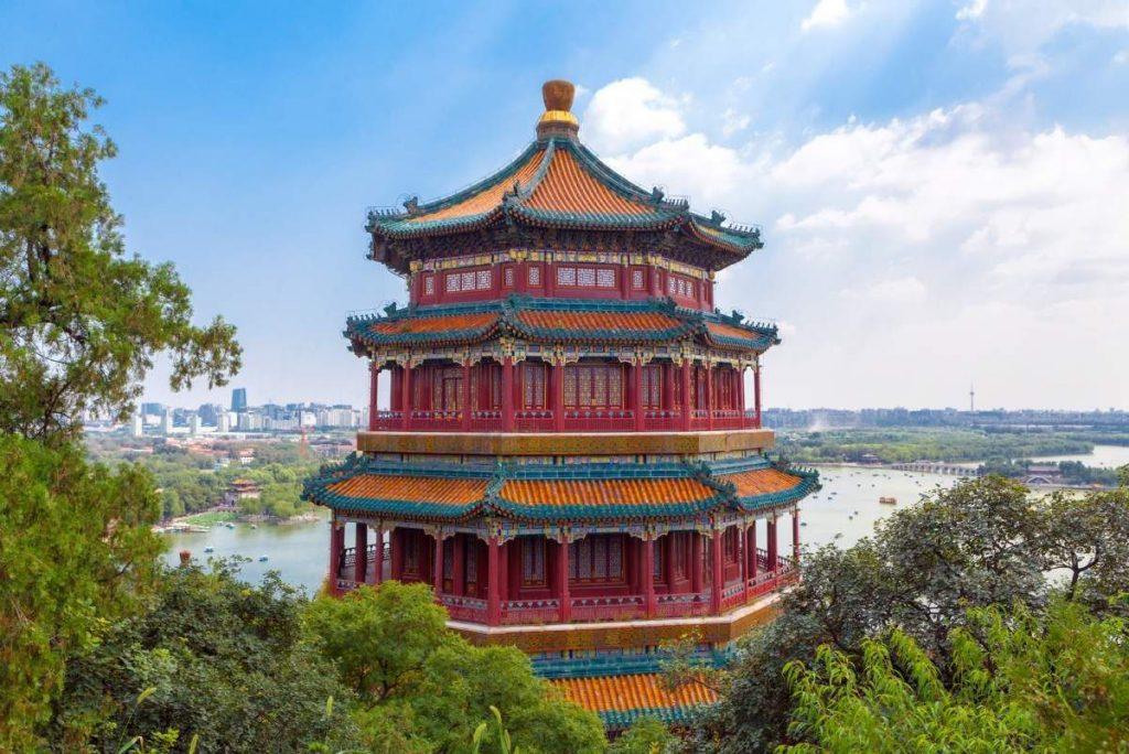 pagode parc palais été panorama