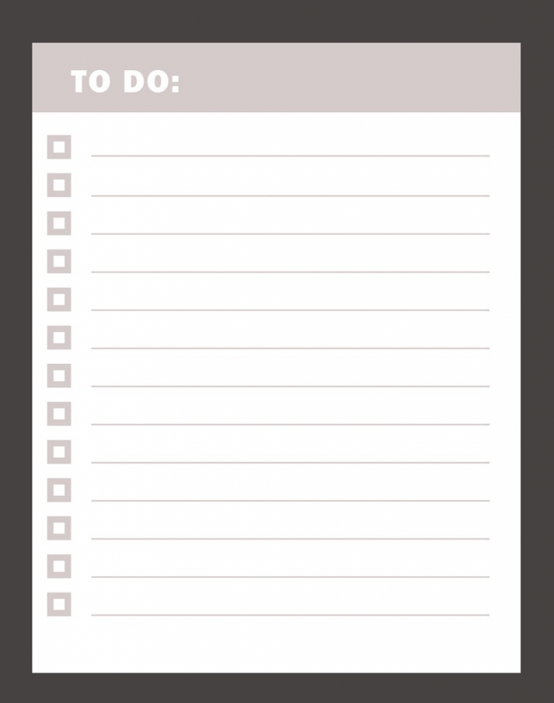 exemple to do list